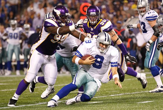Photo of Christian Ballard Sacking Tony Romo