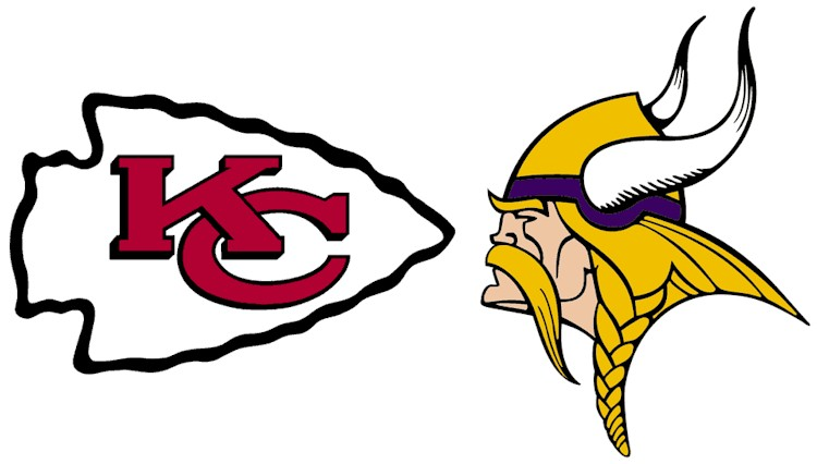 Minnesota Vikings Vs. Kansas City Chiefs Logos