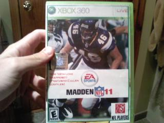 Mashup of Cullen Loeffler on the cover of Madden 11
