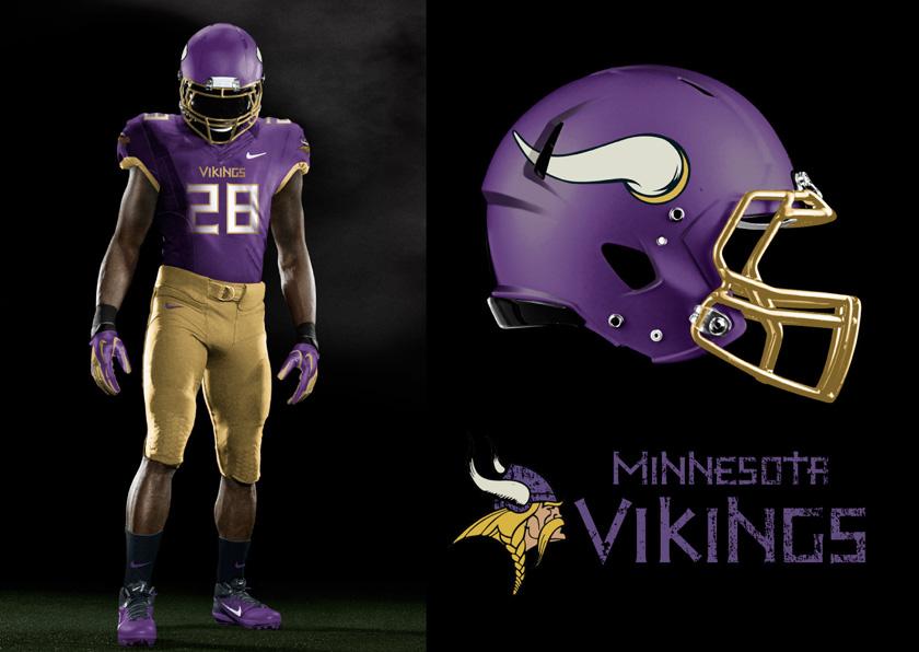 Illustration - BAKER Vikings Uniform Concept
