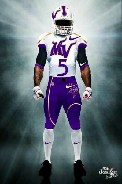 Illustration - Fan Designed Vikings Away Uniform