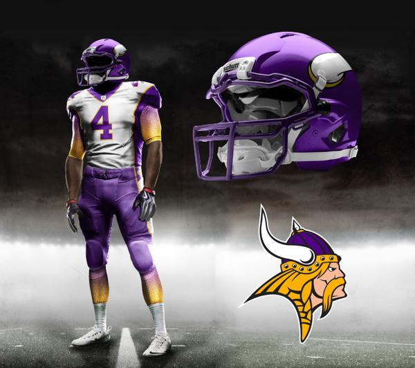 Illustration - New Minnesota Vikings Uniforms - Nike Concept