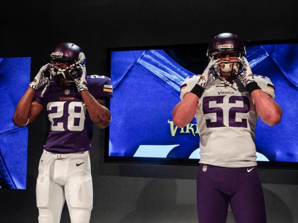 New Minnesota Vikings Uniforms Front