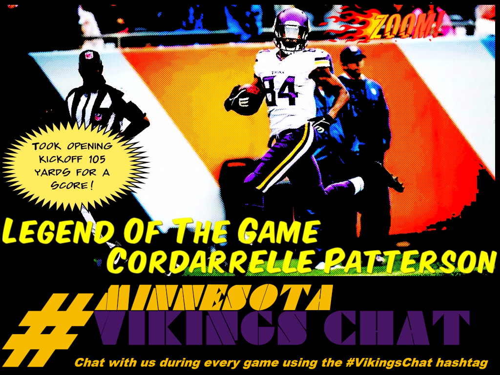 Minnesota Vikings Chat Week 2 Legend Of The Game - Cordarrelle Patterson