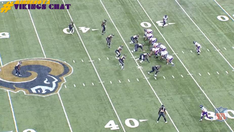 Cordarrelle Paatterson's 67-Yard Td vs Rams Pre-snap