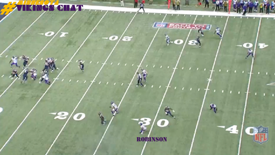 Josh Robinson INT vs Rams