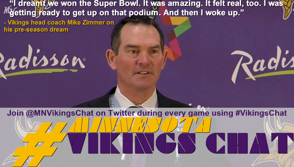 Mike Zimmer On Pre-Season Super Bowl Dream