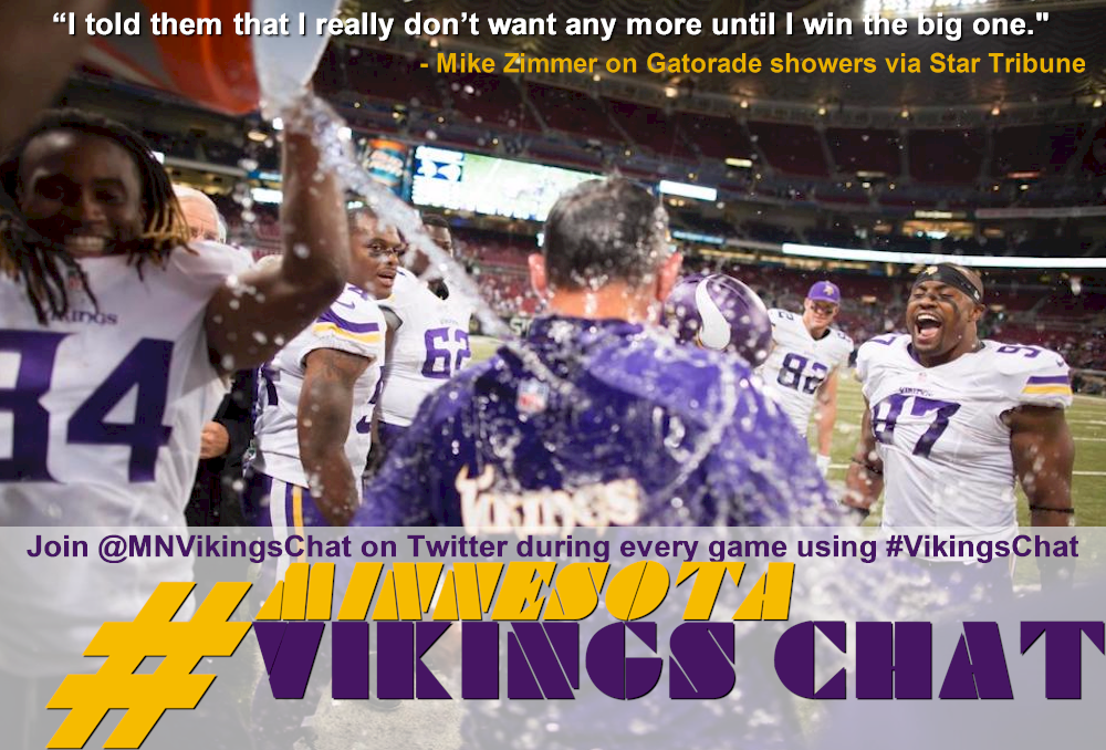 Mike Zimmer on Gatorade Showers vs Rams