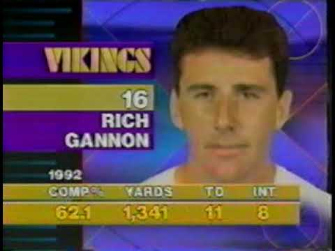 Photo: Rich Gannon, 1992 vs Chicago Bears