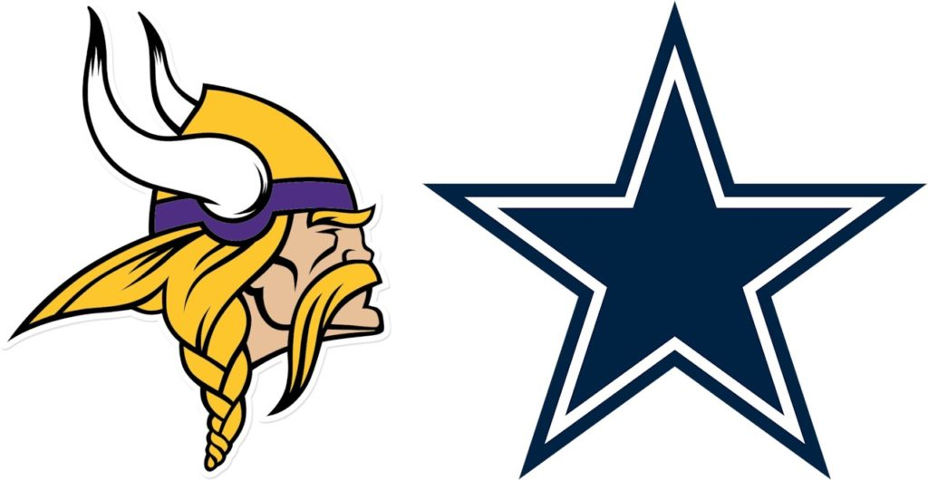 Logos: Minnesota Vikings vs Dallas Cowboys