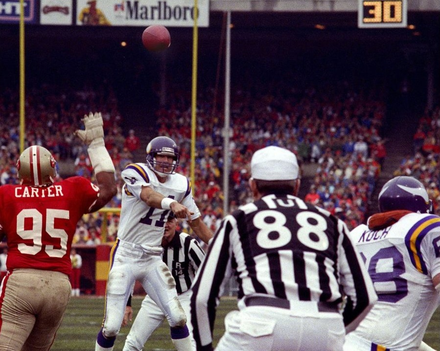 Photo: Vikings vs 49ers - 1987 NFC Divisional Playoffs