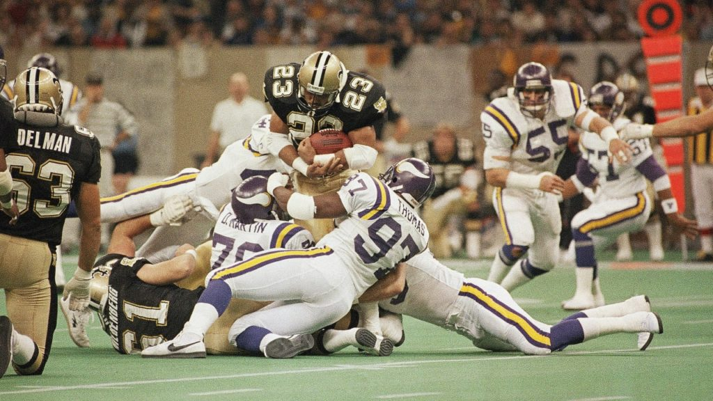 Photo: Vikings vs Saints, 1987 NFC Wildcard