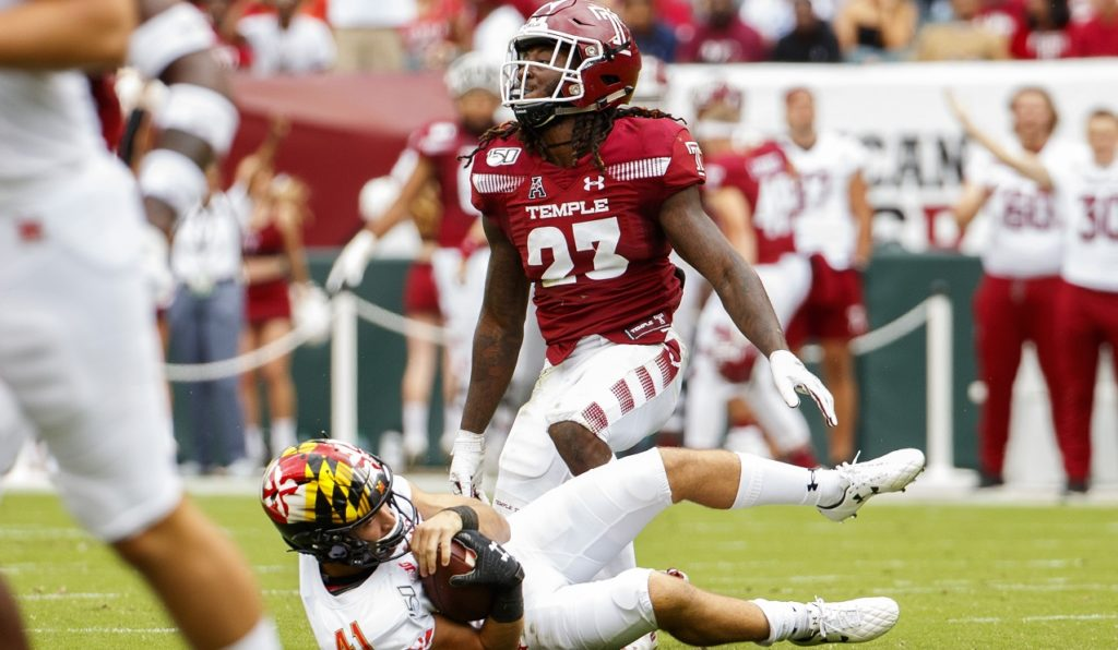 Photo of Temple cornerback Harrison Hand
